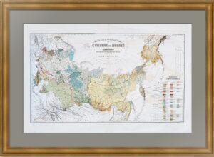 Этнографическая карта Российский империи. 1862г.