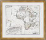 Африка. 1869г. Старинная карта
