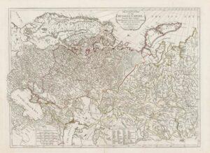 Российская империя (два листа).  1794г. Старинная карта