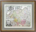Священная Римская империя. 1730г. Редкая антикварная карта