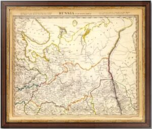 Россия. 1835г. (SDUK II) Олонец, Ярославль, Архангельск, Вологда, Вятка, Пермь