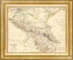 Российская империя и Грузия. 1835г. (SDUK part IX). Антикварная карта