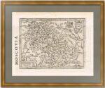 Московия. 1635г. Старинная оригинальная карта Меркатора