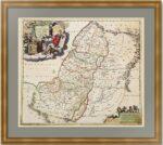 Иудея или Святая Земля. Старинная карта. 1690г. Редкость! Музейный экземпляр