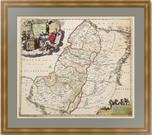 Израиль. Иудея или Святая Земля. Старинная карта. 1690г. Редкость! Музейный экземпляр