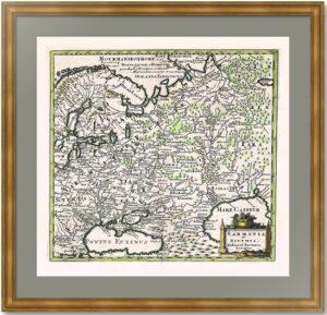 Русь, Сарматия и Скифия. 1697г. Старинная историческая карта