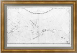 Берингов пролив. 1784г. Антикварная морская карта. (56x76). Музейный экземпляр