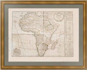 Африка, разделена на главные империи и королевства. 1795г. Вогонди/Деламарш. Музейный экземпляр