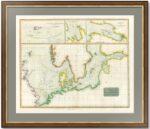 Балтийское и Северное моря. Порты Петербург и Ревель. 1816г. Морская старинная карта (портолано)