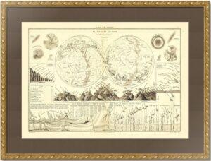Планисфера, а также небесные и земные явления. 1874г.