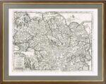 ВЕЛИКАЯ ТАРТАРИЯ. 1713г. Питер ван дер Аа. Старинная карта. Редкость.