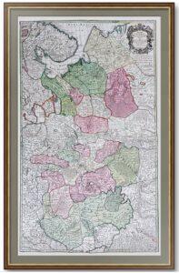 Московия. 1730г. (ок.). Делиль/Зойтер. Старинная карта