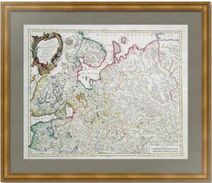 Северная Часть европейской России. 1776г. Вогонди/Сантини. Музейный антикварный подарок