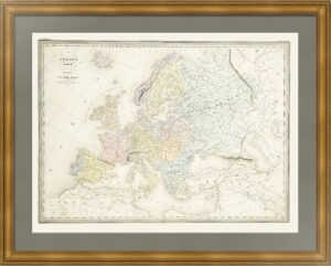 Европа в 1789 году. Дуфур/Дионне. 1867г. Старинная историческая карта. (62x90!)