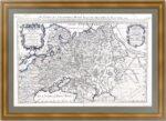Белая Россия или Московия. 1692г. (62x96!). Старинная карта