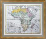 Африка. 1737г. Старинная декоративная карта. Хоманн. Атрибуция не завершена.