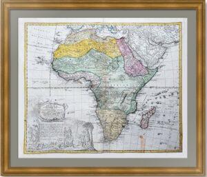 Африка. 1737г. Хасе/Хоманн. Старинная декоративная карта. Музейный экземпляр