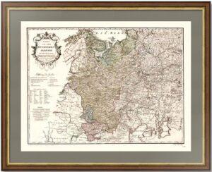 Российская империя в Европе. 1796г. Йозеф фон Рейли. (65x83). Старинная гравированная карта