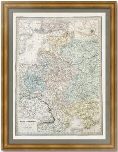 Западная Россия.  Дуфур/Дионне. 1867г. Старинная карта. (90x62!)