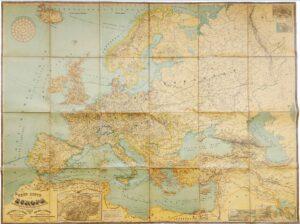 Европа. 1889г. Старинная гигантская кабинетная карта. 120x150! ВИП подарок