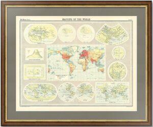 Картография мира. 1922г. История изучения Земли. Старинные карты