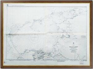 Азовское море. Морская карта. 1938г. (70x102!). Гидр. управление ВМС США