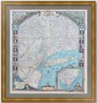 Достопримечательности Нью-Йорка 1939г. Старинная декоративная карта