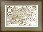 Белая Россия или Московия 1695г. (55x78). Сансон/Жайо. Старинная карта России