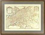 Белая Россия или Московия 1717г. (55x78). Сансон/Жайо. Старинная карта России