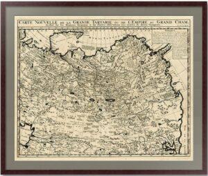Великая Тартария. 1719. Витсен/Шателен. Старинная карта