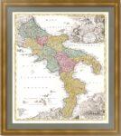 Неаполитанское королевство. 1730г. Старинная карта Италии. Музейный экземпляр