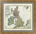 Великобритания и Ирландия. 1749г. Старинная карта. Музейный экземпляр
