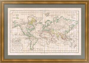 Карта мира, дополненная по Куку. 1790г. Вогонди/Деламарш.