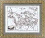 Северная Америка с русскими территориями. 1831г. Старинная карта - антикварный ВИП подарок