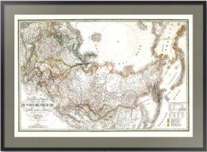 Россия в Европе, Азии и Америке. 1832г. Старинная карта. Лист 53х74