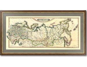 Российская империя. 1842г. Старинная карта