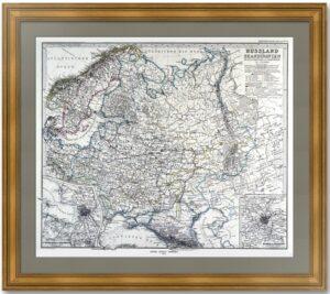 Россия и Скандинавия. Москвa, Петербург. 1869г. Старинная карта