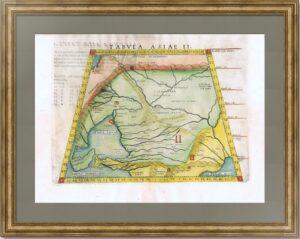 Юг России - Крым, Азов, Кавказ, 1562г. Птолемей. TABULA ASIAE II