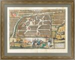 Москва. План города. 1575г. Старинная гравюра. Музейный экземпляр