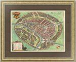 Москва с высоты птичьего полета. Мериан. 1638г. Роскошный антикварный VIP подарок