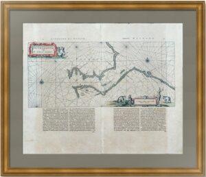 Пролив Югорский шар (Вайгачский). 1659г. Старинная морская карта. Первое состояние. Редкость.