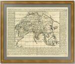 Азия. 1719г. Шателен. Старинная карта