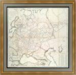 Россия европейская. 1818г. Старинная карта. Пядышев. (120x122!). Музейный экземпляр