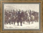Парад в Петербурге. 1874г. Старинная гравюра
