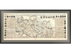 Карта Российской империи. 1719г. Шатлен. Лист 44х100. Музейный экземпляр