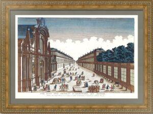 Архангельское под Москвой. 1790г. Старинная гравюра. Оптический вид
