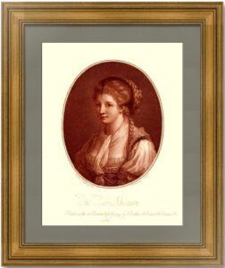 Портрет эльзаски. 1779г. Кауфман / Бартолоцци. Музейный экземпляр. Старинная гравюра