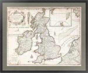 Британские острова. 1780г. Старинная карта. Атрибуция не завершена
