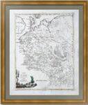 Архангельская губерния. 1782г. Затта. Старинная карта