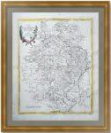 Московская и Воронежская губернии. 1782г. Затта. Старинная карта